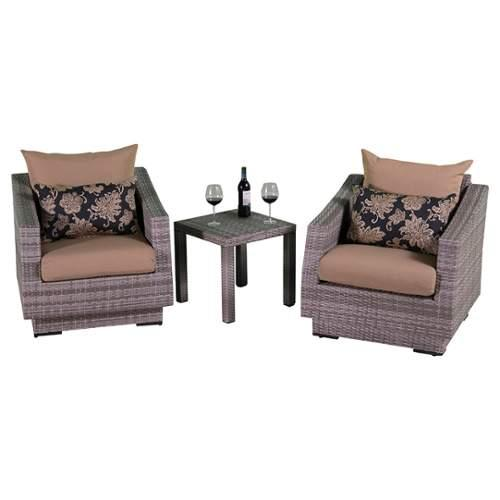 RST Brands  Cannes Club Chairs and Table  Outdoor Furniture  Cannes  Furniture  Outdoor Bistro Sets  ;Delano Beige