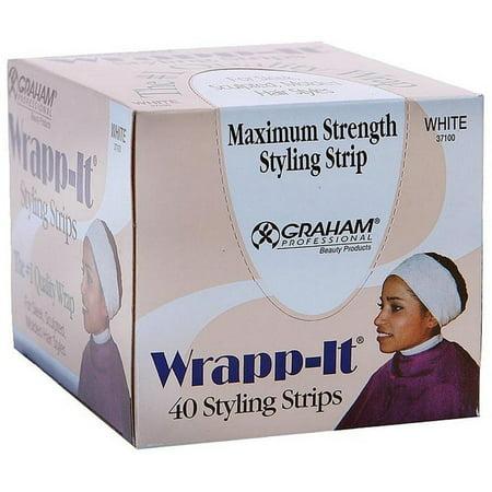 Graham Wrapp-It Styling Strips, White 40 ea