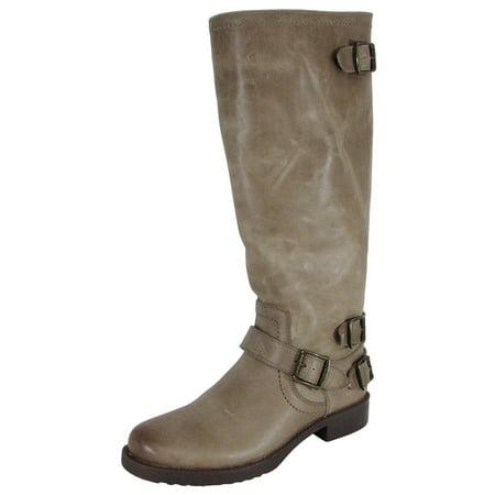Arturo Chiang Ella Leather Riding Boot Shoes Sahara Sand Maple US 7