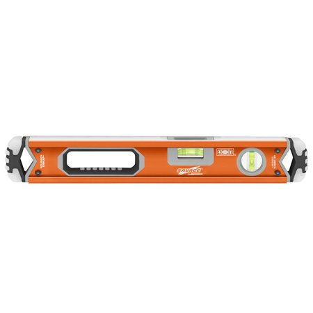 Swanson SAVAGE SVB180 18-Inch Contractor Series Box Beam Level with Gelshock End Caps