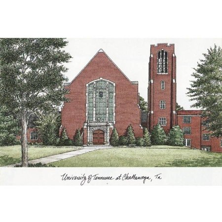 University of Tennessee, Chattanooga Campus Images Lithograph -