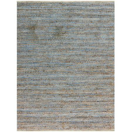 Naturals 1 Blue Flat-Weave Area Rug (1 Blue Area Rug)