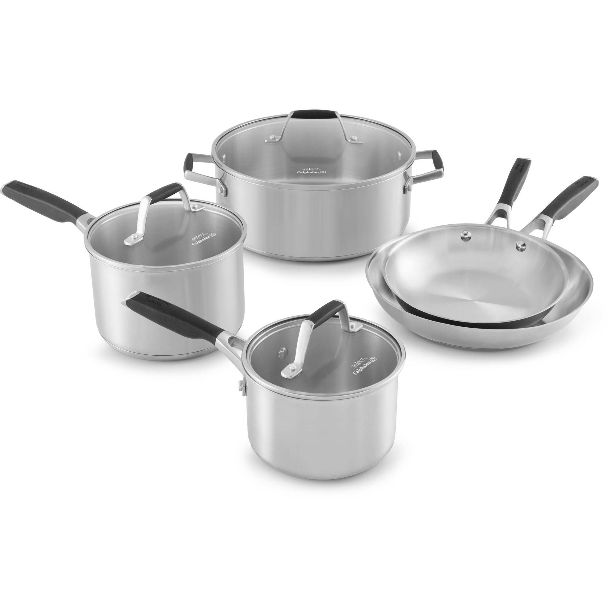 Select by Calphalon Stainless Steel 8-piece Cookware Set by