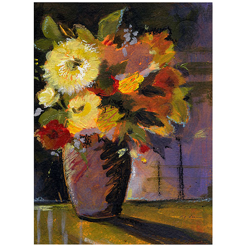 "Trademark Art ""Purple Vase"" Canvas Art by Sheila Golden"