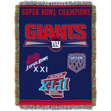 "NFL 48"" x 60"" Commemorative Series Tapestry Throw, Giants"