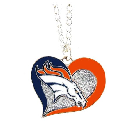NFL Football Swirl Heart Necklace Pick Your Team