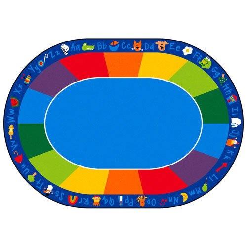 "carpets for kids 9616 printed fun with phonics horizontal kids rug rug size: 8'3"" x 11'8"""