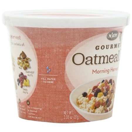8 PACKS : Njoy Morning Harvest Gourmet Oatmeal Kit, 3.08 Ounce (Kit Harvest)