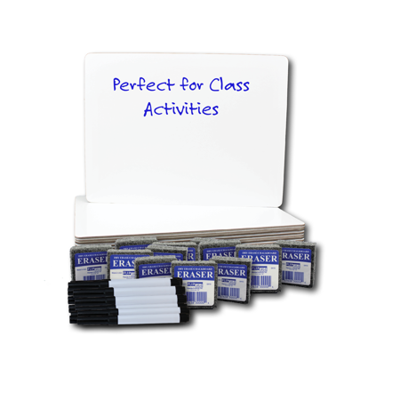 Flipside, FLP21003, Dry Erase Board Set Class Pack, 12 / Pack Dry Erase Board Set