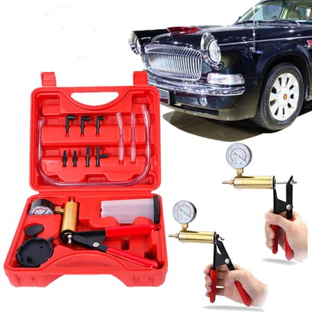 Brake Bleeder Adapter Set - Zimtown Hand Held Vacuum Pump Tester Set, Brake Fluid Bleeder Tools, Car Motorbike Bleeding Tool