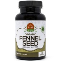 Organic Fennel Seed - Digestive Aid and IBS Supplement - 1080MG per Serving - 120 Veggie Capsules - 100% Natural and Made in The USA