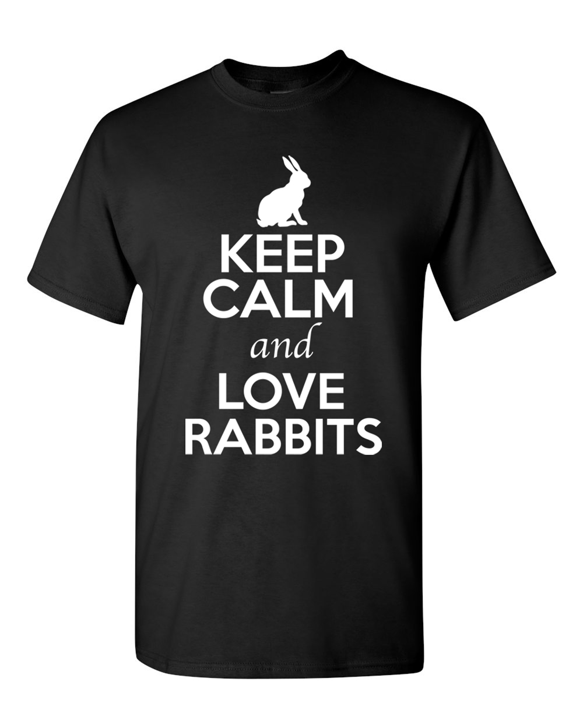 d31ea4287 City Shirts - Keep Calm And Love Rabbits Bunny Animal Lover Adult T ...