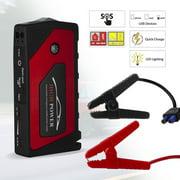 69800mAh 12V Car Jump Starter Portable 4 USB Port Phone Charger LED Flashlight Power Bank Battery Booster