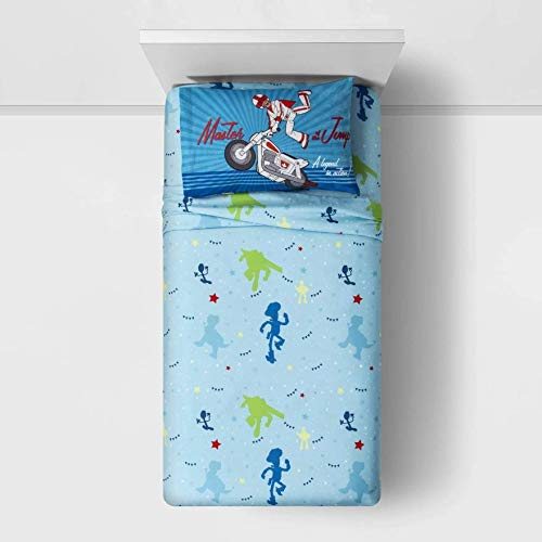 """Toy Story 4"""" The Gangs All Here Twin Reversible Comforter and 3 Piece Sheet Set"""