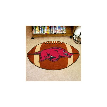 NCAA Arkansas Nylon Face Football Rug