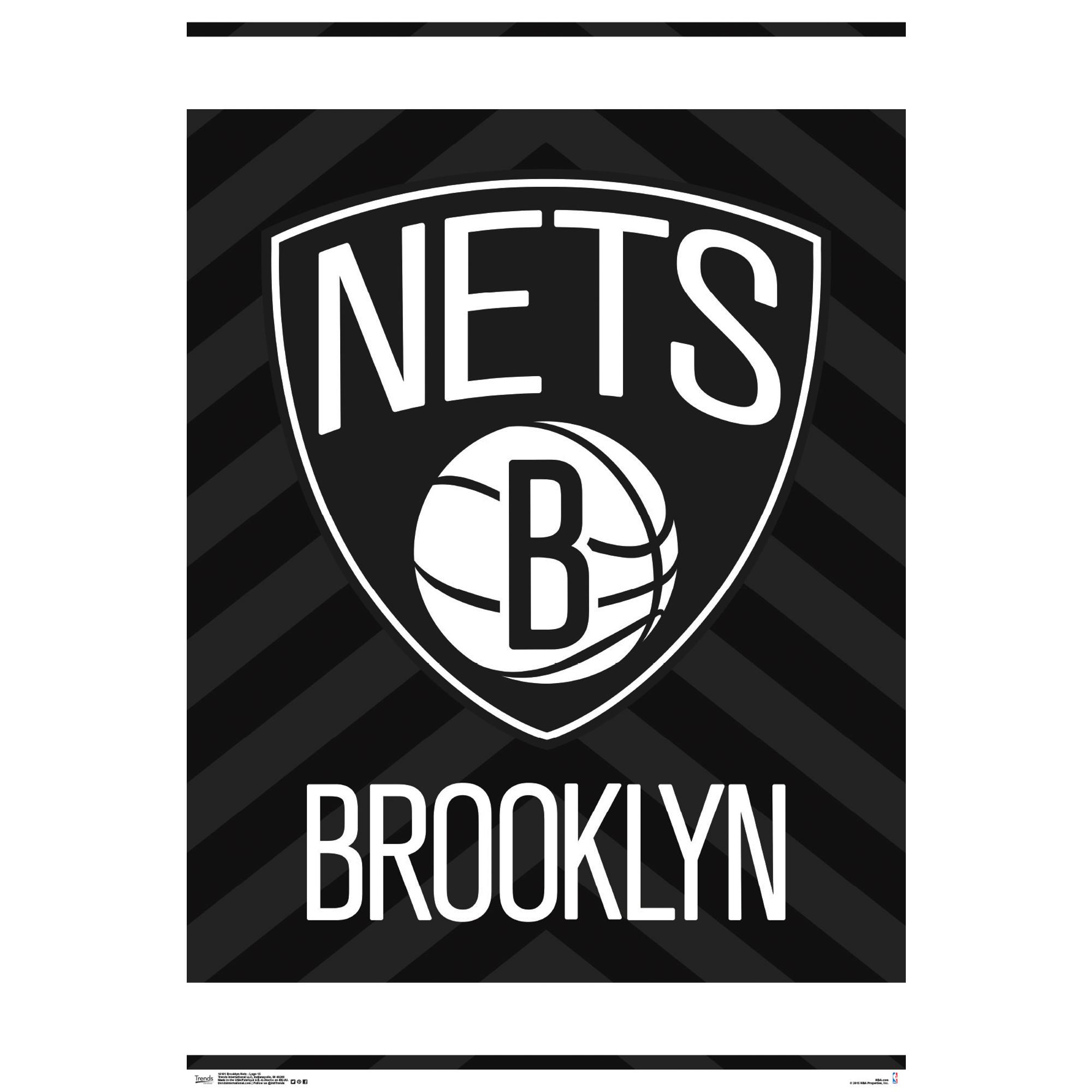 Brooklyn Nets 22'' x 34'' Logo Team Poster - No Size