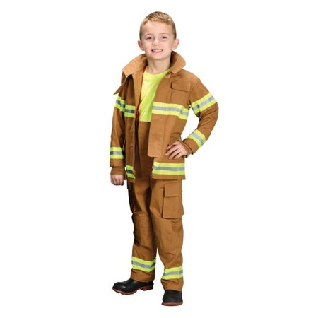 Morris Costumes AR39MD Fire Fighter Child Tan Costume, Medium 6-8](Tan Firefighter Costume)