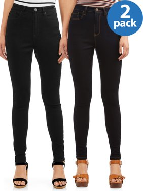 No Boundaries Juniors' High Rise Skinny Jean 2 Pack Bundle