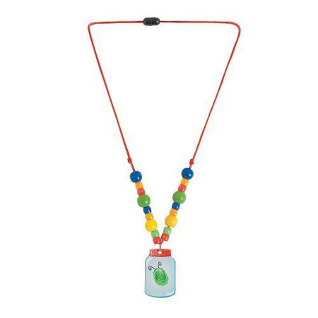 in 13629101 bug in a jar thumbprint necklace craft kit makes 12 by