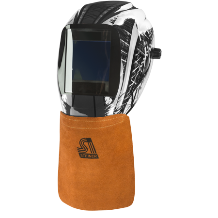 Steiner 12109 Side Split Cowhide Welding Helmet Bib with Velcro Attachment