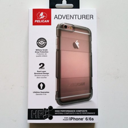 hot sale online 6da15 c97dd Pelican Adventurer Case for Apple iPhone 6 6s Clear