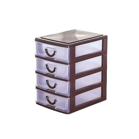 Plastic Storage Dividers - Four layers Plastic Transparent Drawer Organizer Home Kitchen Board Divider Makeup Storage Boxes