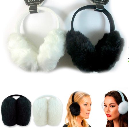 1 Pc Women's Faux Fur Fluffy Ear Muffs Warmer Plush Band Earmuffs Earlap Winter
