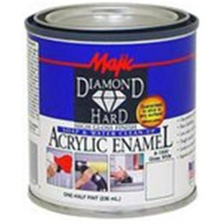 Majic Paints 8-1501-4 0.5 Pint Gloss Black Diamond Hard Acrylic - Black Enamel Fusible Decal