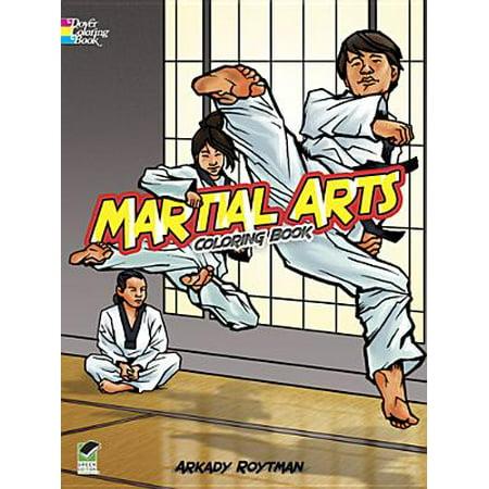 Martial Arts Coloring Book (Best Form Of Martial Arts For Self Defense)