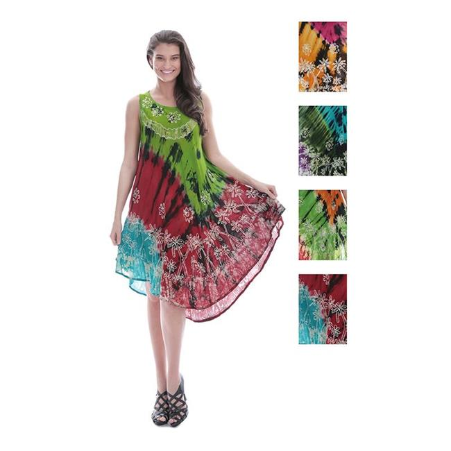 Eros ATTAF1113 Womens Batik Tie Dye Rayon Dresses, Floral...