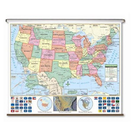 Universal Map 15063 Us Primary Wall Map Roller