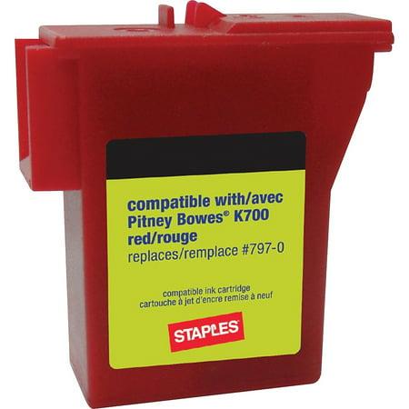 Staples K700 Postage Meter Ink Cartridge for Mailstation Series Meters 756927 (700 Series Staples)