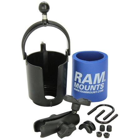 RAM Mount RAM-B132R Drink Cup Holder with U-Bolt Base, Includes can huggie By RAM (Ram Mount Cup Holder)