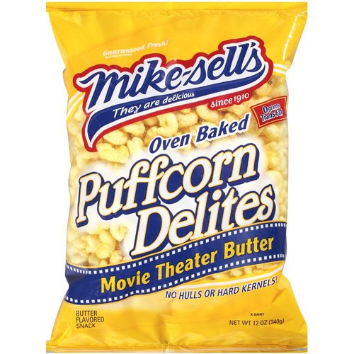Mike-Sell¬タルs Puffcorn Delites With Movie Theater Butter, 12 oz