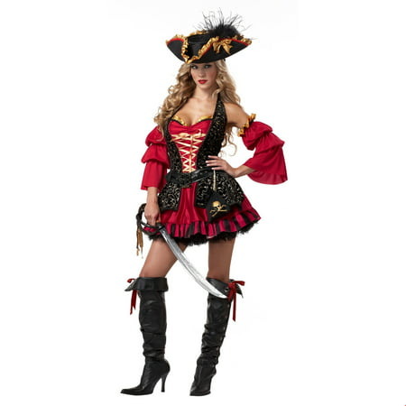 Womens Sexy Spanish Pirate Halloween Costume