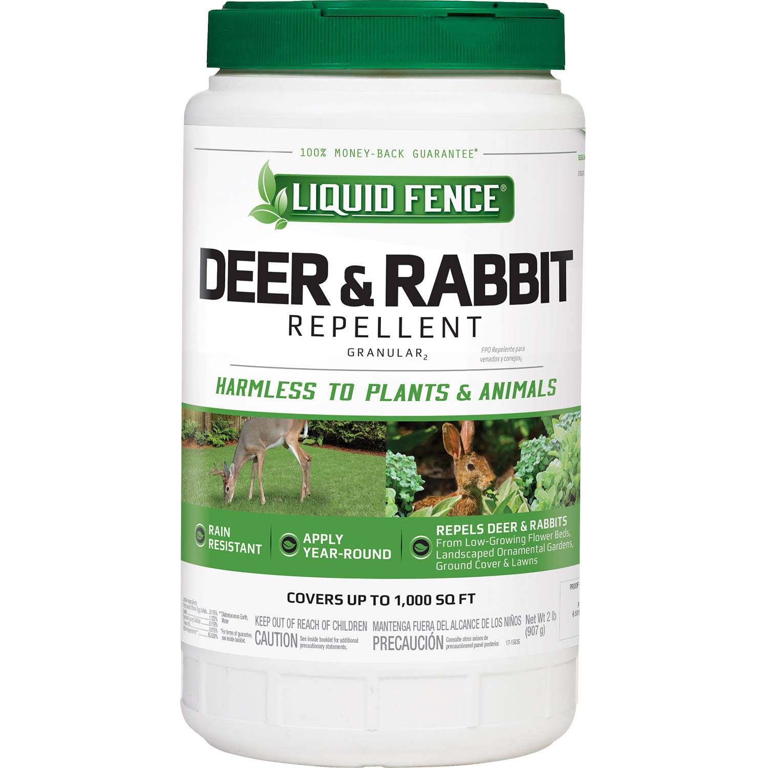 Liquid Fence Deer and Rabbit Repellent Granular, 2 lb
