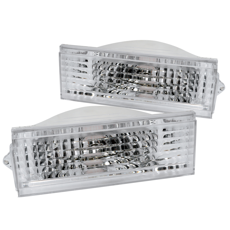 Spec-D Tuning 1984-1996 Jeep Cherokee Bumper Signal Lights Parking Lamps Chrome/ Clear 84 85 86 87 88 89 90 91 92 93 94 95 96 (Left + Right)