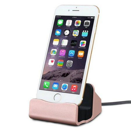 Lightning Charge and Sync Dock Stand for iPhone and iPod - Rose (Charges Docked Ipod)