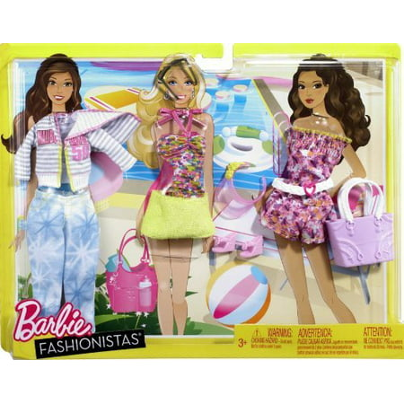Barbie Fashionistas Day Looks Clothes Bright Beach Outfits - NEW