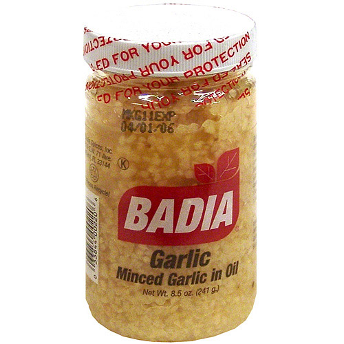 Badia Minced Garlic in Olive Oil, 8.5 oz, (Pack of 12)