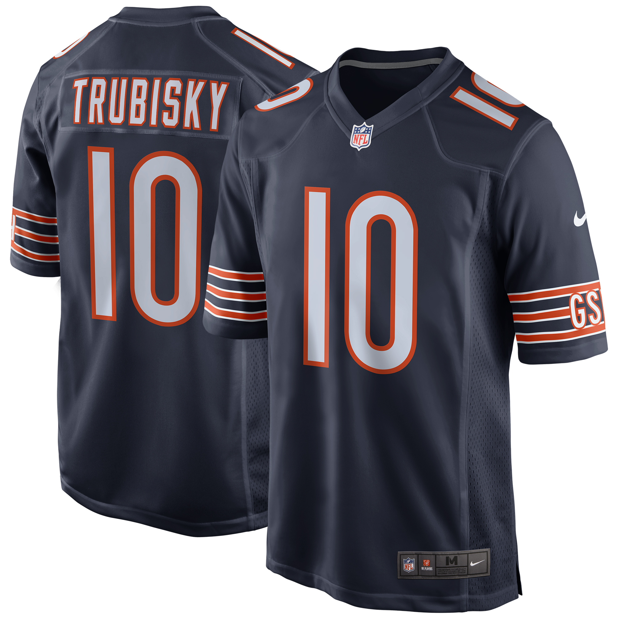 Mitchell Trubisky Chicago Bears Nike Game Jersey - Navy