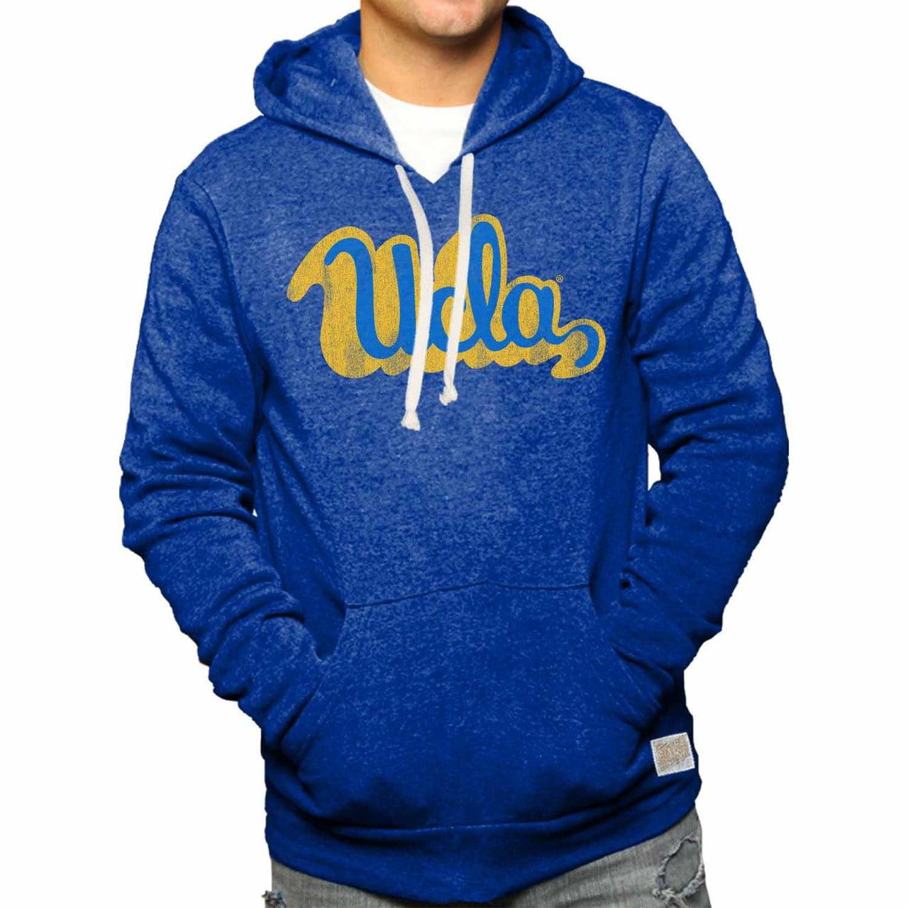 UCLA Bruins Vault Logo Tri-blend Hooded Sweatshirt - Royal