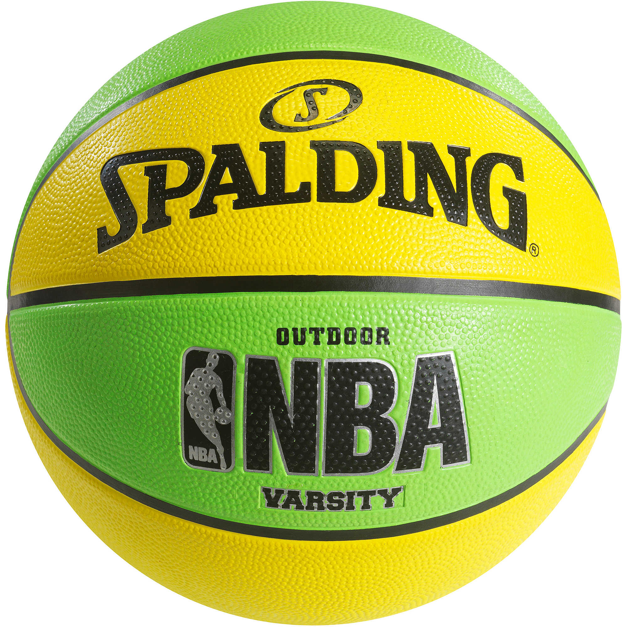 "Spalding NBA Varsity Neon Green/Yellow 29.5"" Basketball"