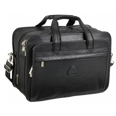 Practical Expandable Leather Laptop Briefcase