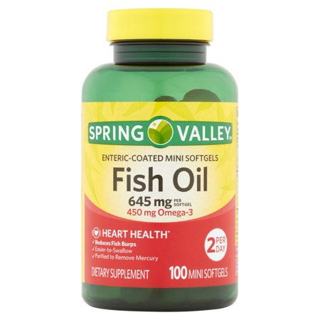 Spring valley fish oil enteric mini softgels 645 mg 100 for Spring valley fish oil review