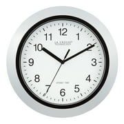 La Crosse Technology WT-3102S 10 Inch Silver Atomic Analog Wall Clock