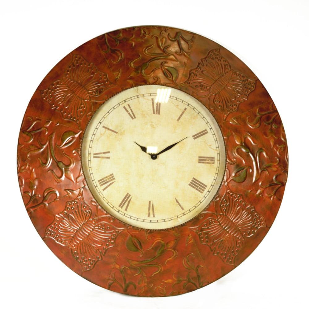 Antique Metal Wall Clock Bronze Walmart Com