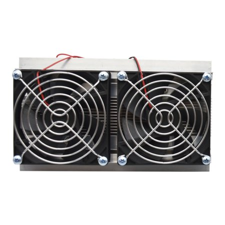 Thermoelectric Peltier Refrigeration Cooling System Kit Semiconductor Cooler Large Radiator Cold Conduction Module Double Fans - image 6 of 7