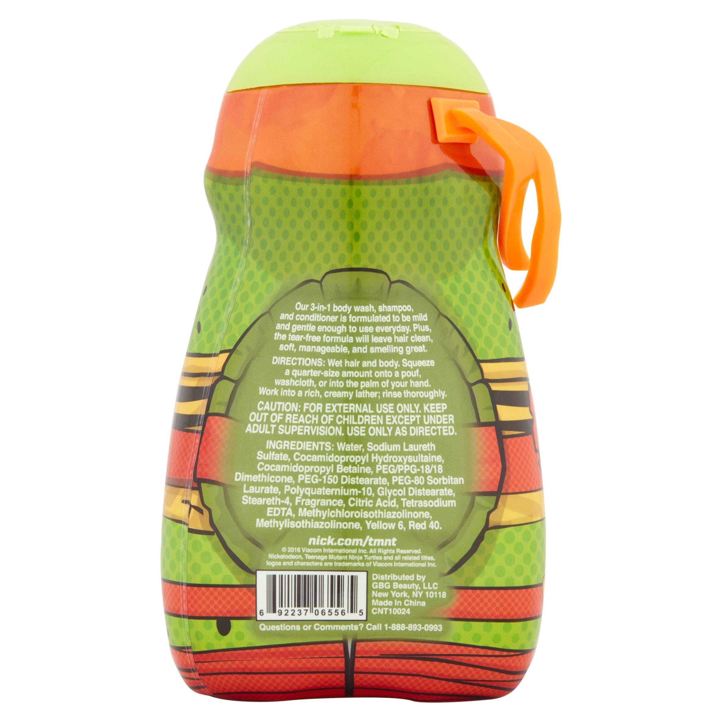 Teenage Mutant Ninja Turtles   TMNT   3 In 1 Body Wash , Shampoo,  Conditioner   Walmart.com