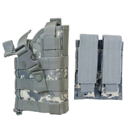 ACU Digital Camo MOLLE Compatible Holster With FREE 2 Pocket Magazine Pouch / The Holster Fits SIG P226 P229 P250 P270 SP2022 P320 Smith & Wesson M&P M2.0 CZ-P10 Hudson.., By m1surplus from